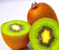 Kiwis haben einen hohen Vitamin C Gehalt