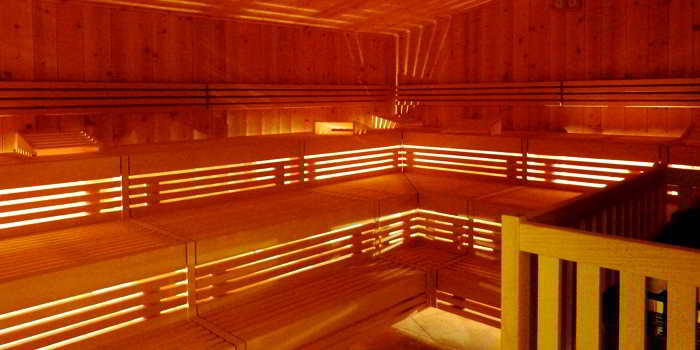 Eine Sauna zum wohlfühlen