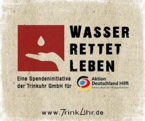 Wasser trinken rettet Leben