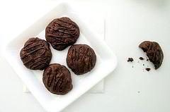 pralinen - dunkle Schokolade