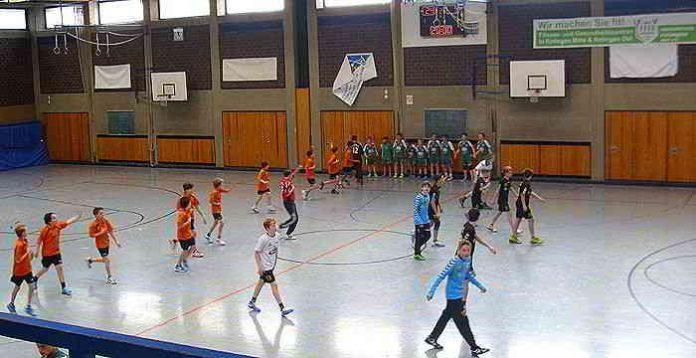 D- und E-Jugend vom TVR, D-Jugend von ART Düsseldorf