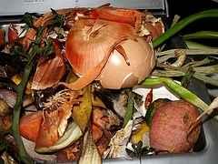 Küchenabfälle können auf den Komposter