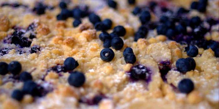Obst Crumble ohne Gluten
