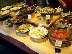 Am Buffet kann man Kalorien sparen