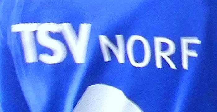 Blau und Weiß sind die Farben vom TSV Norf