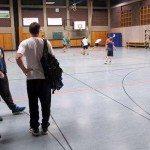 Ein kleines Spiel zum Abschluss vom Handballtraining