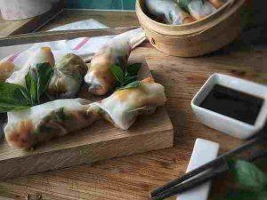 Thai-Rollen aus Süßkartoffel und Gemüse, total lecker und gesund