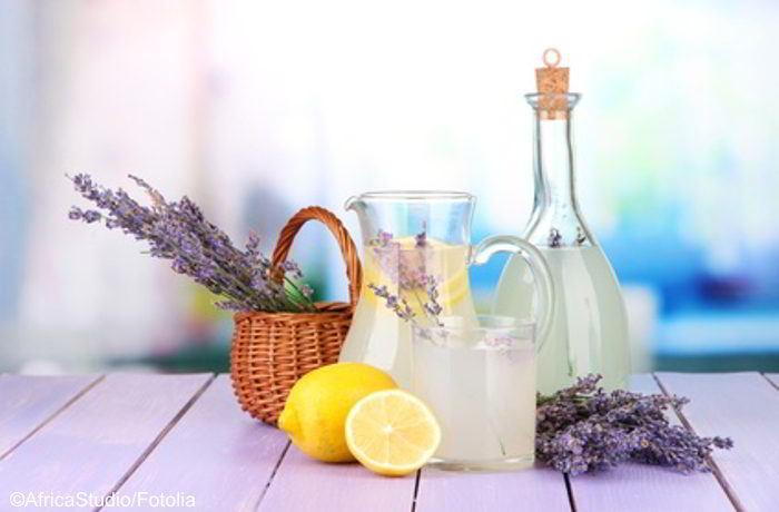 Ein Lavendel-Limo Rezept, gegen Durst und Depressionen