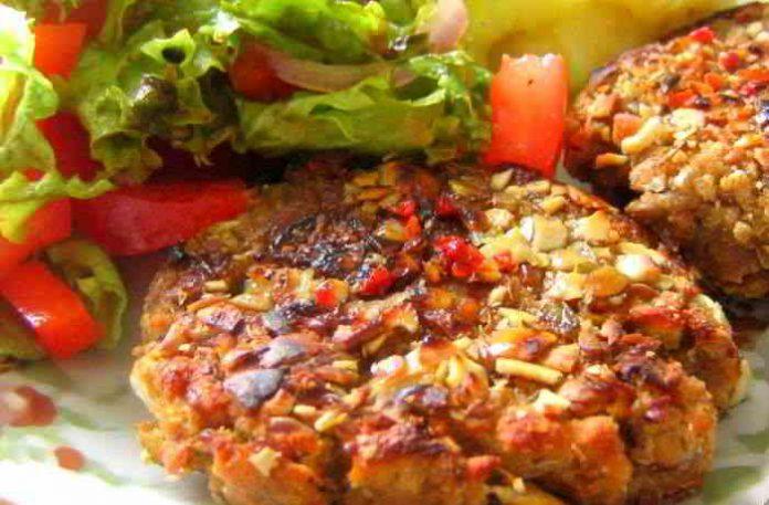 Vegane Patties aus Chiasamen, Haferflocken und Erbsen - lecker und schnell gemacht