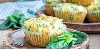Vegetarische Kräuter-Muffins, gesundes Fingerfood passend zur Saison