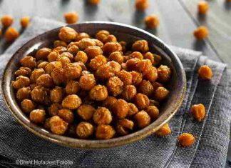 Geröstete Kichererbsen - der gesunde Low-Carb-Lecker-Snack