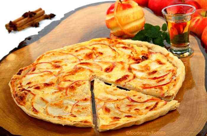 Apfel Flammkuchen und Apfel Wok mit Ingwer - zwei Rezepte