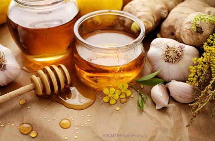 Knoblauch mit Honig und Ingwer, Gesundheit auf nüchternen Magen