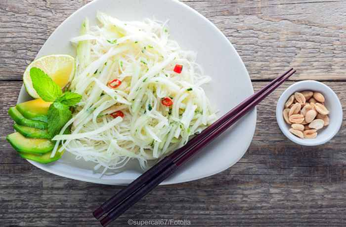Vegane Kohlrabi Nudeln - Low Carb, gesund und richtig lecker