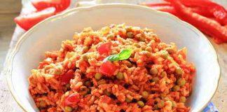 Veganer Djuvec Reis mit selbst gemachtem Ajvar