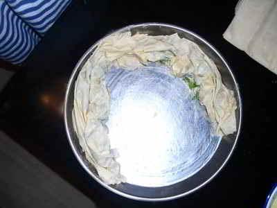 Vegetarisches Börek mit Petersilie und DIY Feta