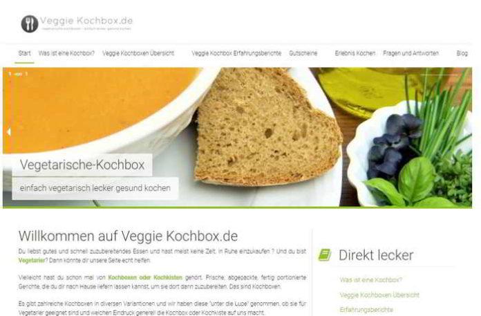 Internet-Portal für vegetarische Kochboxen gestartet