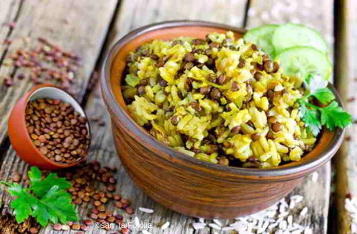Das One Pot Gericht Mujadara - vegan, gesund und lecker