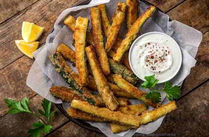 Zucchini Sticks - Low Carb, vegetarisch, glutenfrei und richtig lecker