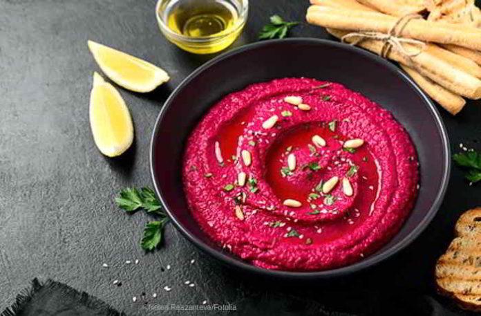 Hummus mit gerösteter Rote Beete - das gesunde lecker Rezept
