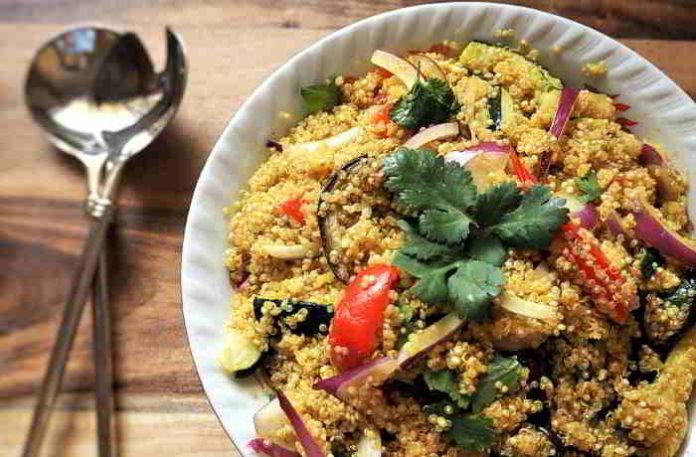 Quinoa Kebab - kalorienarm, super lecker und richtig gesund!