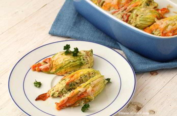 Gefüllte Zucchiniblüten - das vegetarische lecker Rezept